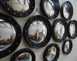 Vintage Butlers Porthole Convex Mirrors -POA