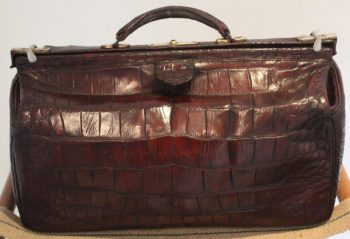 Antique Crocodile Gladstone Bag