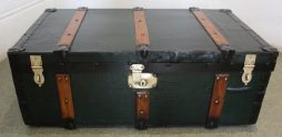 Antique Green Trunk by J McMillan of Fulham Road London
