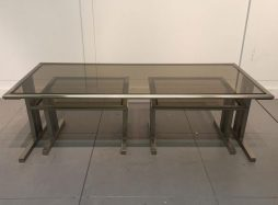 Set of Three Steel Nesting Tables. French c 1970