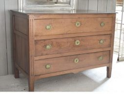 Antique French Empire Fruitwood Commode