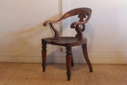 19th Century Antique Mahogany Library Armchair