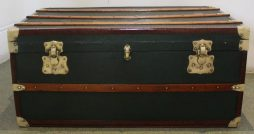 Antique Green Shipping Trunk