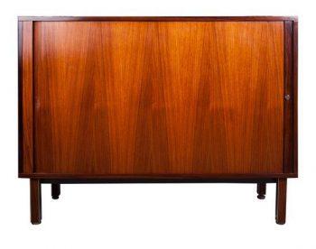 Mid Twentieth Century Modern Design Tambour Cabinet