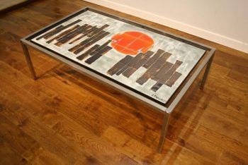 Belarte Tiled 1970s Chrome Coffee Table