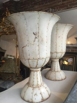 French Metal Urns