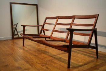Sculptural British Teak Guy Rogers New York Sofa