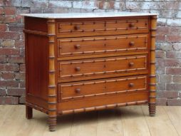 Antique Faux Bamboo Chest Of Drawers