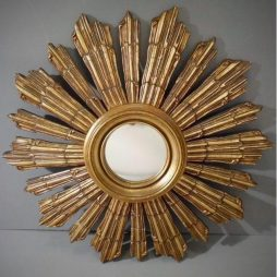 French Art Deco Sunburst Mirror