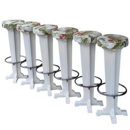 Set of 6 French 1950s Bar Stools - POA