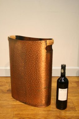Stylish 1970s Copper Wastepaper Bin