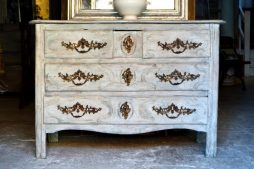 Antique Louis XV French Painted Commode