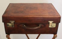 Antique Leather and Brass Suitcase