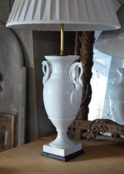 Antique White Porcelain Limoges Lamp