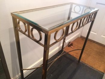 Mid-Century French Brass Console Table