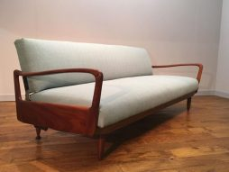 Greaves & Thomas Teak Framed Put-u-Up Sofa