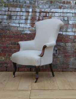 19th Century French Walnut High Back Armchair