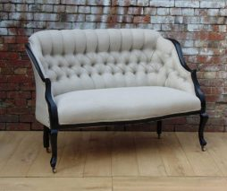 Antique Re-upholstered English Salon Sofa