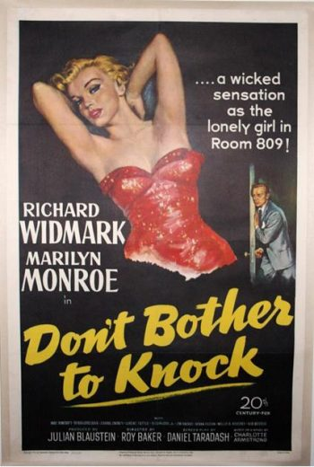 Marilyn Monroe: A Rare Original U.S. One-Sheet Movie Poster for 'Don't Bother To Knock', 1952