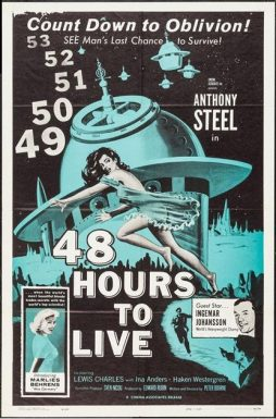 Sci-Fi Movies: An Original U.S. Cinema Poster for 48 Hours To Live, 1959,