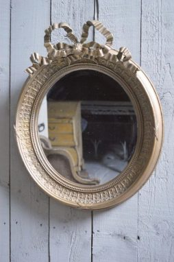 Antique French 19th Century Oval Mirror