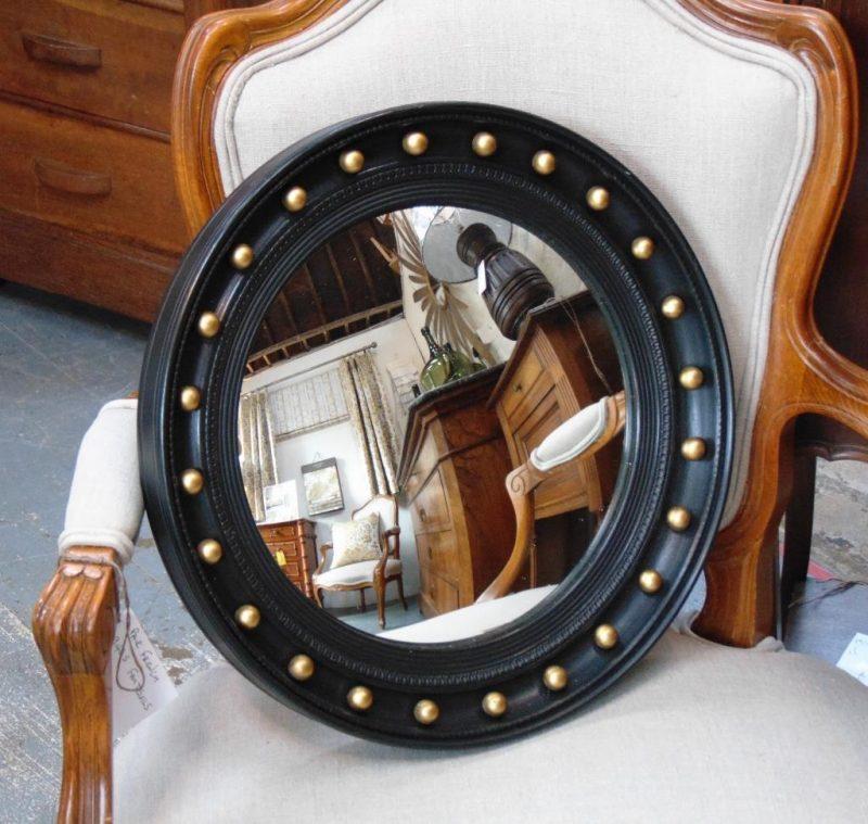Vintage Butlers Porthole Convex Mirror Interior