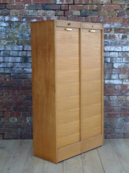 Industrial Double Tambour Front Cabinet