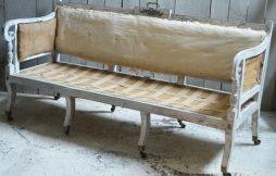 Antique Regency Campaign Sofa