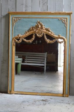 Antique Louis Philippe Overmantle Mirror