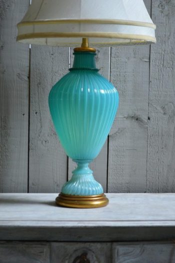 1950s Murano Glass Table Lamp