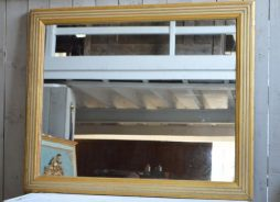 Large Antique French 19th Century Bistro Mirror