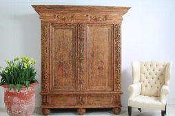 Exquisite Antique Swedish 18th Century Period Baroque Cabinet