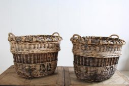 French Harvesting Champagne Baskets