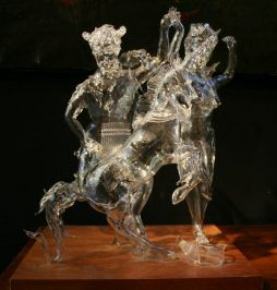 Hand Blown Glass Sculpture of Pan
