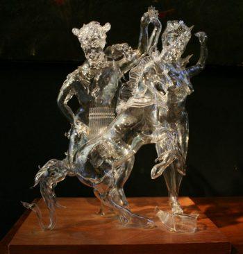 Hand Blown Glass Sculpture of Pan