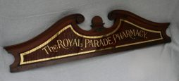 Antique Victorian Pharmacy Shop Glass Advertising Sign