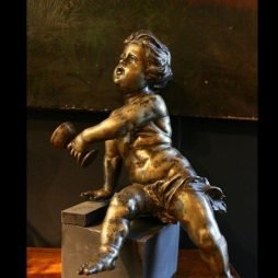 Antique 18th Century Bronze Figure of a Putto
