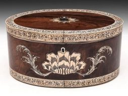Anglo Indian Oval Tea Chest