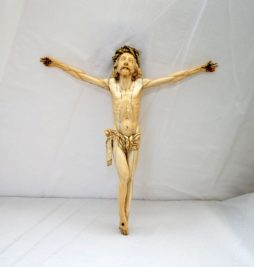 Antique 18th Century Ivory Carved Crucifix from Goa