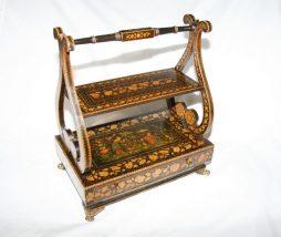 Antique Regency Penwork Book Stand