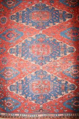 Antique 19th Century Hand Knotted Caucasian Kuba Daghestan Kilim - POA
