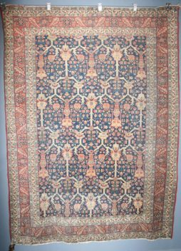 Antique early 1900s Rare Hand Knotted Mahal Carpet -POA