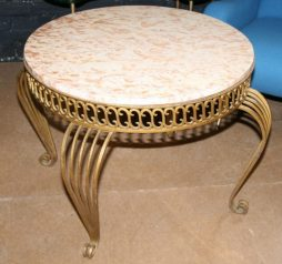 Vintage French Marble Top Coffee Table