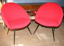 Pair of Italian Lounge Cocktail Chairs