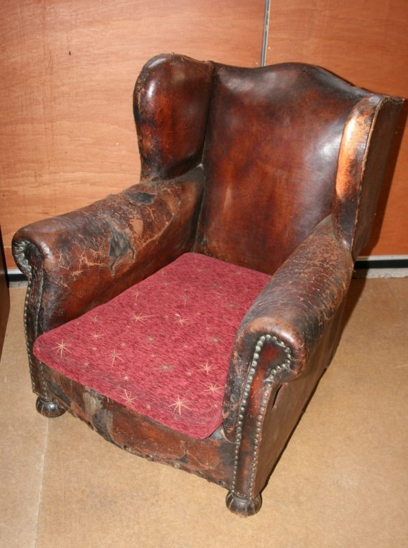 Antique Wing Back Leather Armchair Interior Boutiques