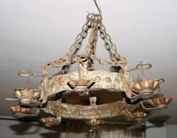 Antique Spanish Iron Chandelier