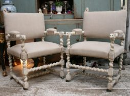Pair of Antique Swedish Chairs