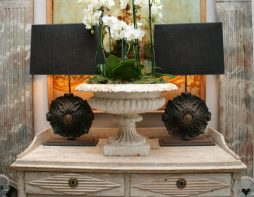 Pair of Cast Iron Lamps