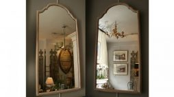 Pair of Bleached Antique Mahogany Mirrors