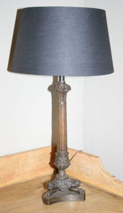 Antique Single Empire Bronze Lamp